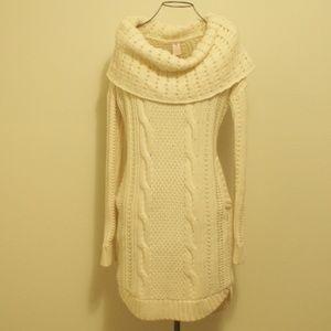VS Cowl Neck Off Shoulder Sweater Dress